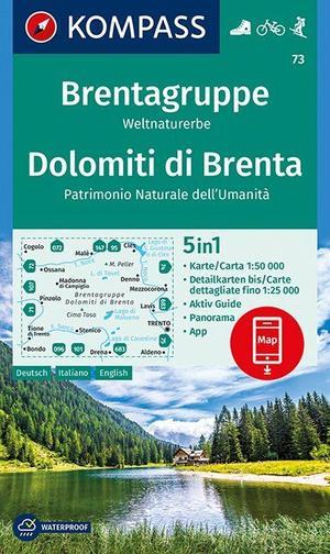Kompass WK73 Brentagruppe, Weltnaturerbe, Dolomiti di Brenta 1:50 000