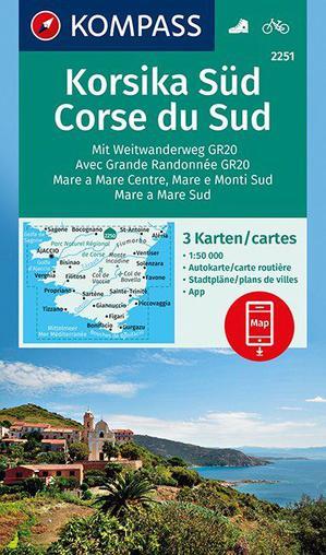 Korsika Süd, Corse du Sud, Weitwanderweg GR20 1 : 50 000