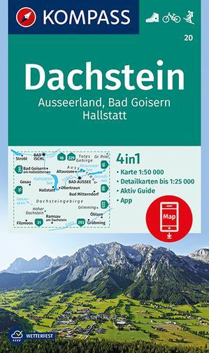 Kompas WK20 Dachstein, Ausseerland, Bad Goisern, Hallstatt 1:50 000