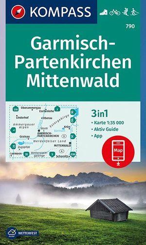 Kompas WK790 Garmisch-Partenkirchen, Mittenwald 1:35.000