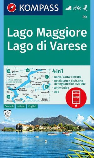 Lago Maggiore, Lago di Varese  1:50 000
