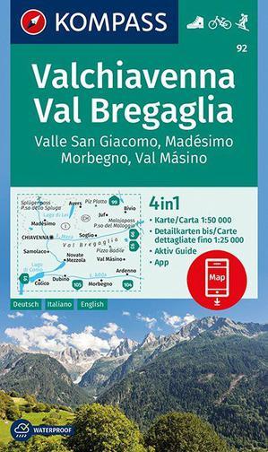 Valchiavenna, Val Bregaglia, Valle San Giacomo, Madésimo, Morbegno, Val Másino 1:50 000