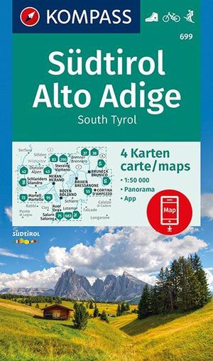 Kompass WK699 Südtirol, Alto Adige, South Tyrol 1:50.000