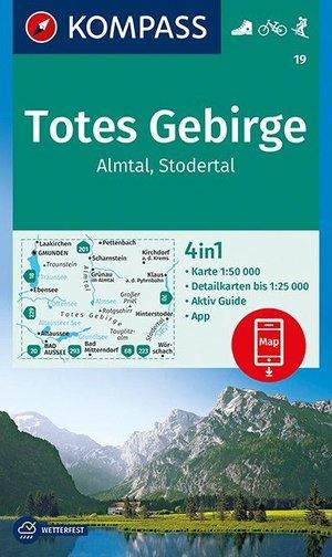 Kompas WK19 Totes Gebirge, Almtal, Stodertal 1:50 000