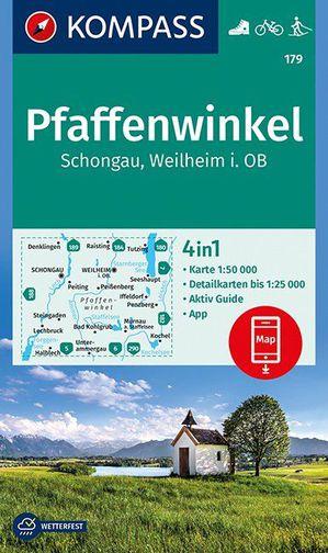 Pfaffenwinkel, Schongau, Weilheim i. OB 1:50 000