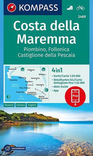 Costa della Maremma, Piombino, Follonica, Castiglione della Pescaia 1:50 000
