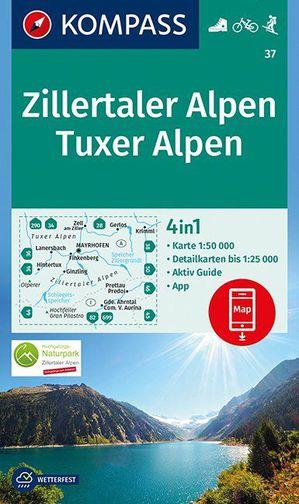 Zillertaler Alpen, Tuxer Alpen 1:50 000