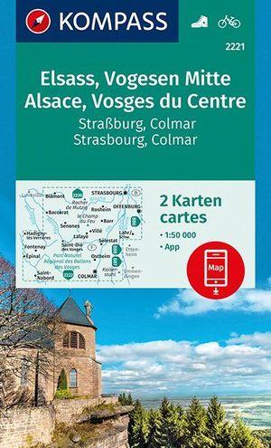 Kompass WK2221 Elsass, Vogesen Mitte, Alsace, Vosges du Centre 1:50.000