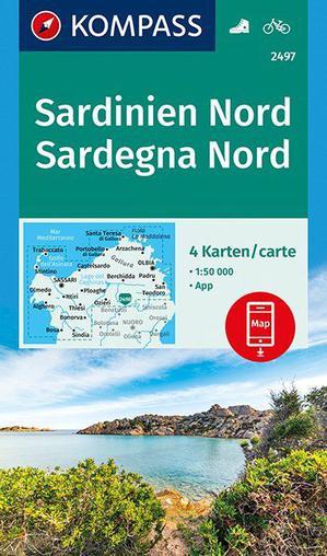 Kompass WK2497 Sardinien Nord, Sardegna Nord 1:50.000
