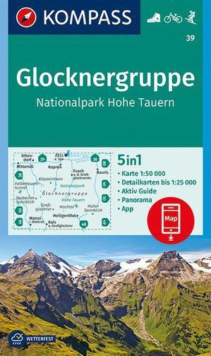 Kompass WK39 Glocknergruppe, NP Hohe Tauern 1:50 000