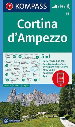 Kompass K55 Cortina d'Ampezzo
