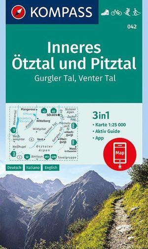 Kompass WK042 Inneres Ötztal und Pitztal, Gurgler Tal, Venter Tal 1:25.000