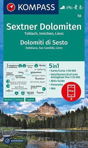 Sextner Dolomiten, Dolomit di Sesto, Toblach, Dobbiaco, Innichen, San Candido, Lienz 1:50 000