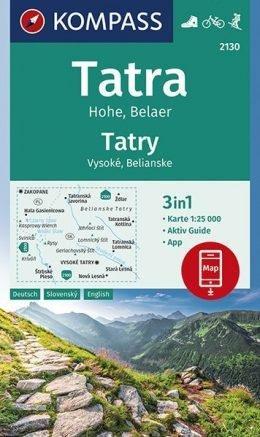 kompass WK2130 Hoge Tatra, Belaer -Tatry Vysoké, Belianske