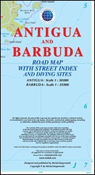 Antigua Barbuda Road Map & Diving