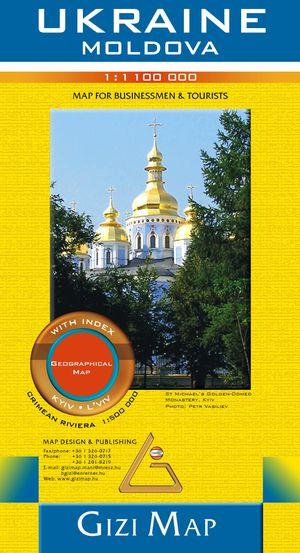 Ukraine - Moldova Geographic Map