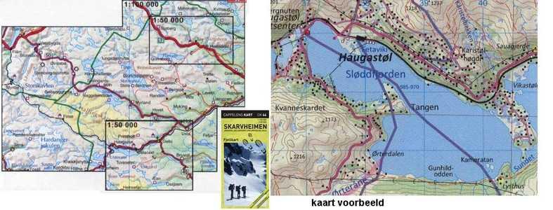 CK 44 Skarvheimen Fjell 1:100.000