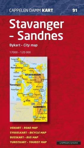 Ck91 Stavanger Sandnes Bykart City Map