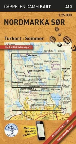 Turkart Sommer 410 Nordmarka Sor 1:25 000