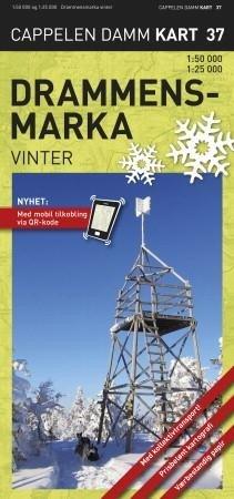 Ck37 Drammensmarka Winter Vinter 1:50.000