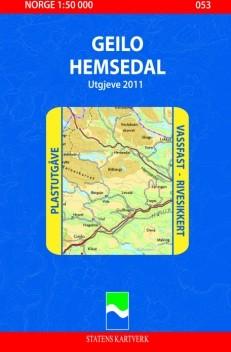 053 Geilo Hemsedal 1:50.000 Statens Plast