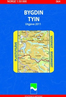 064 Bygdin Tyin 1:50.000 Statens Plast