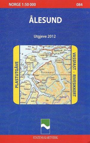 084 Alesund 1:50.000 Statens Civiel Plastic