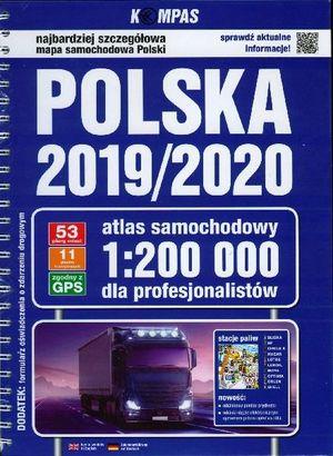 Polska Polen wegenatlas met ringband voor de professionele gebruiker 1:200.000