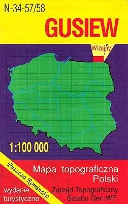 N-34-57/58 Gusiew 1:100.000