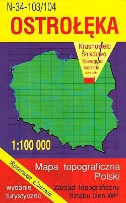 N-34-103/104 Ostroleka 1:100.000