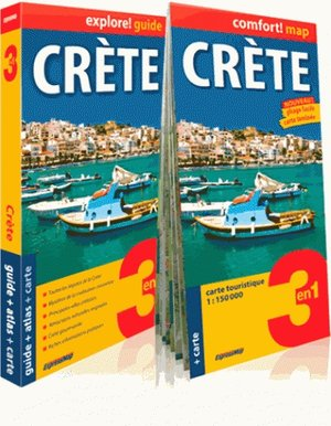 Crète explore guide + city atlas + map