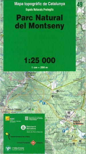 49 Pn Del Montseny 1:25.000