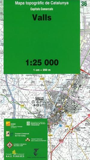 36 Valls 1:25.000 Icc