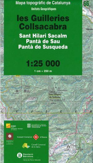 66 Les Guilleries Collsacab 1:25.000 Icc Pn