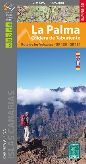 La Palma - Caldera Taburiente map&hiking guide