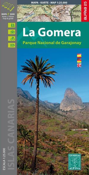 Gomera - PN de Garajonay map & guide wandelkaart