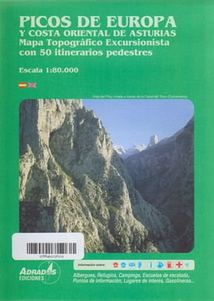 Picos De Europa Costa De Asturia 1:80.000