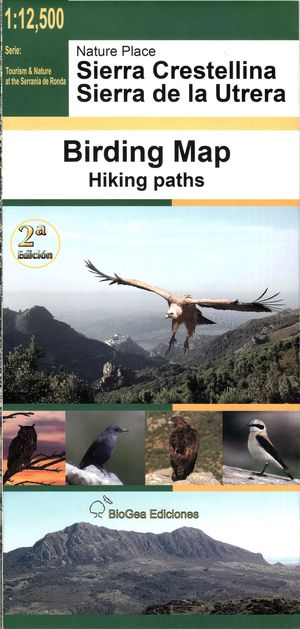 Sierra Crestellina 1:12.500 Birding Map