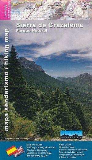 Sierra de Grazalema Parque Natural 1:40.000 - wandelkaart + boekje Andalusië
