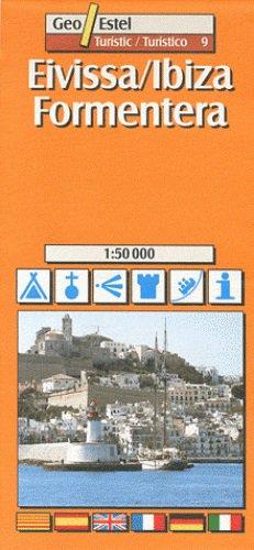 Ibiza, Formentera Tourist Map 1:50, 000