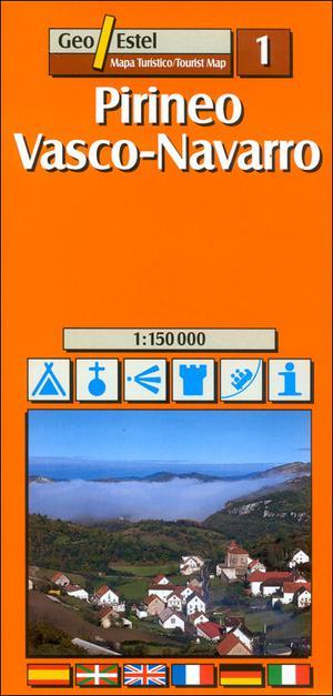 Vasco - Navarra Tourist Map 1:150, 000