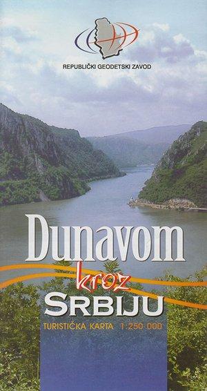 Dunavom Donau Servische Deel 1:250.000