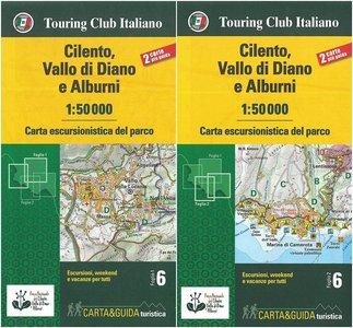 Cilento, Vallo di Diano e Alburn kaart&gids Set