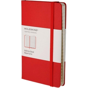 Moleskine Address Book Rood