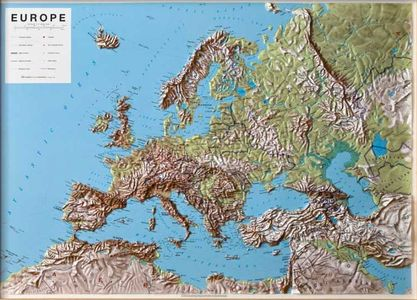 Europa Reliefkaart 1:7,5m Lac