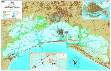 Laguna Veneta Carta Dei Canali Navigabil