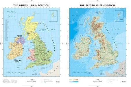 British Isles 1:1,1m Lac Plano English