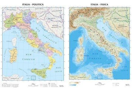 Wandkaart Italië Italia 1:1,1m Plano
