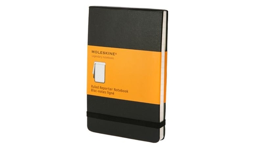 Moleskine Ruled Reporter Notebook Black