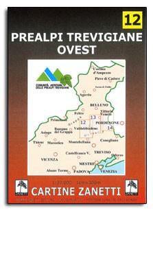 12 Prealpi Trevigiane Ovest Veneto 1:30.000